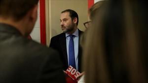 El secretario de Organización del PSOE, José Luis Ábalos, el pasado miércoles.