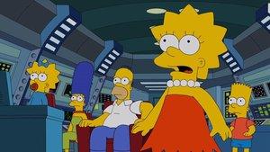 La preclara familia Simpson, en el episodio 'El hombre que vino a ser la cena'.