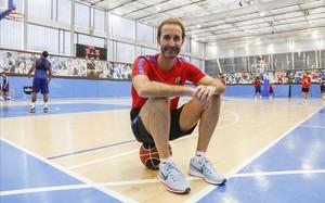 Sito Alonso, nuevo entrenador del Barça, en la pista de la Ciutat Esportiva