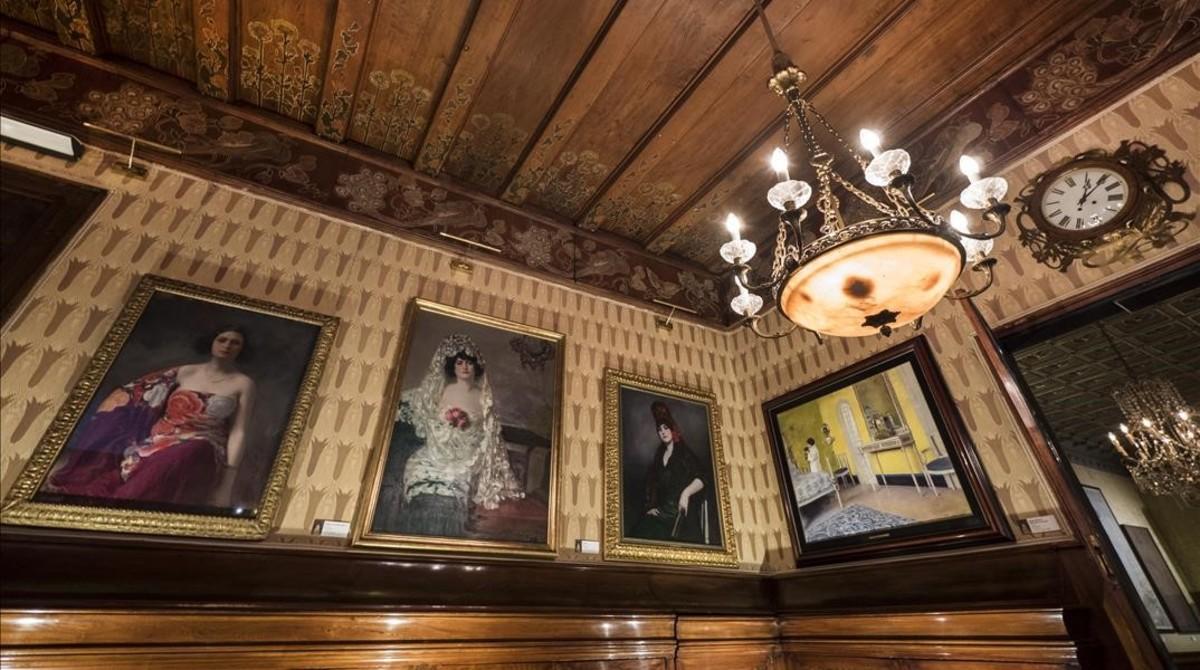 La última sala de la exposición, donde lucen los retratos de Júlia más íntimos.