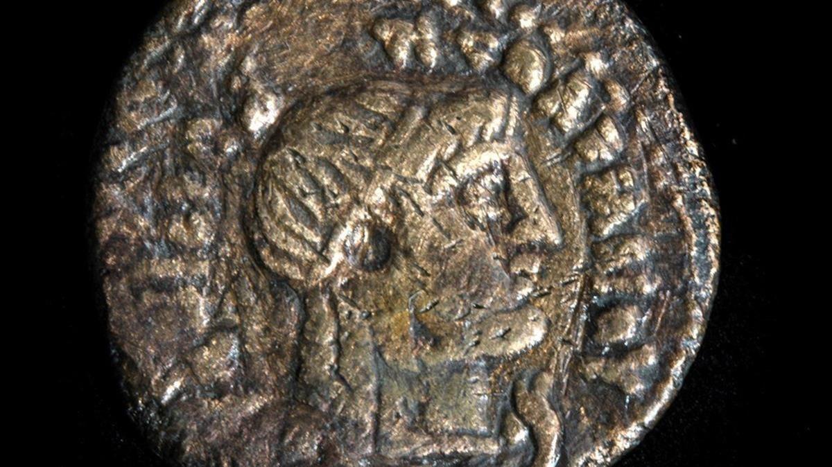 Una de las piezas de la exposición de los hallazgos sobreCleopatra.