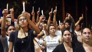 Protesta estudiantil contra Ortega en Managua.
