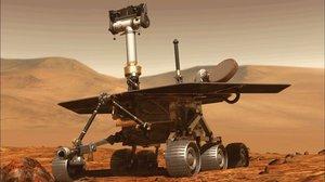 Ilustración del Opportunity en la superficie marciana