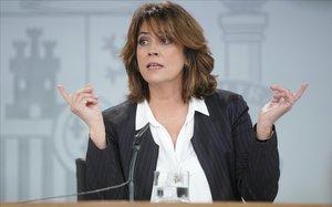 """La ministra de Justícia: """"Els llaços grocs es trauran i desapareixeran si Torra no compleix"""""""