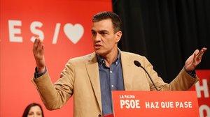 """Sánchez critica que les """"tres sigles de la dreta"""" veuen el 26-M en clau de """"supervivència"""""""