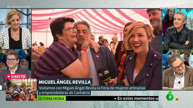 Revilla con una fan ('Liarla Pardo', La Sexta).