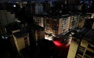 Calles de Venezuela sin energía eléctrica.