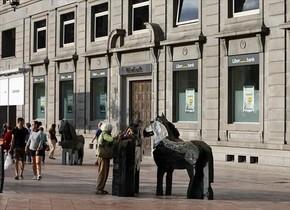 Vista de las oficinas centrales de Liberbank en Oviedo, hoy.