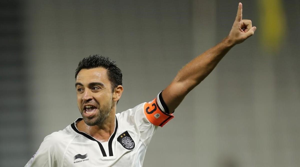 Xavi celebra un gol marcado con su equipo, el Al Sadd de Catar, el pasado 7 de diciembre.