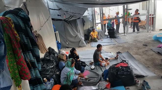 REfugiados en un campo en Grecia.
