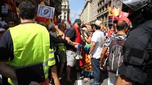 Els CDR boicotegen una manifestació en contra de la immersió lingüística a Barcelona