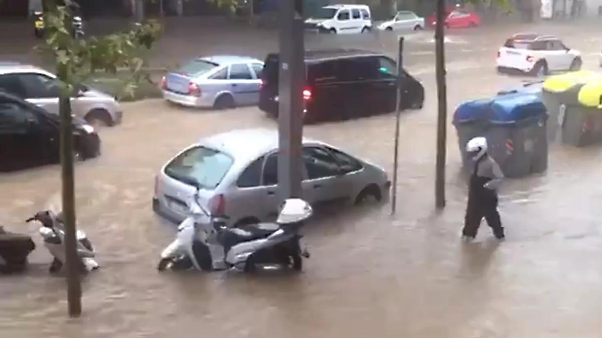 'Acqua alta' a Barcelona