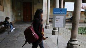 Facultad de Filología de la Universitat de Barcelona.