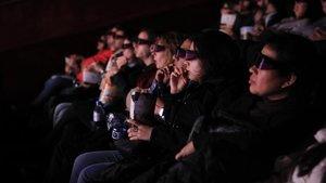 Sesión de 'Alita: ángel de combate' en 4DX en los Cines Filmax Gran Via. Aquí es una película movida dentro y fuera de la pantalla.