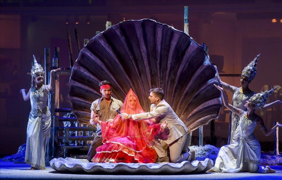 Un momento de 'Los pescadores de perlas', una ópera convertida en 'show' televisivo.