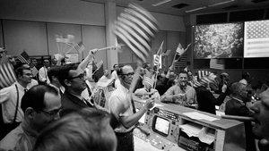 Sala de control de la misión 'Apolo 11', en el Centro Espacial Kennedy (EEUU).