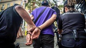 Uno de los carteristas detenidos la semana en el metro.