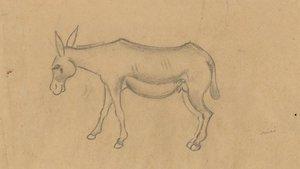 'Hort amb ase', de Miró, uno de los dibujos seleccionados por Llena.