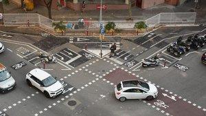 Galimaties de senyals als carrers de Barcelona