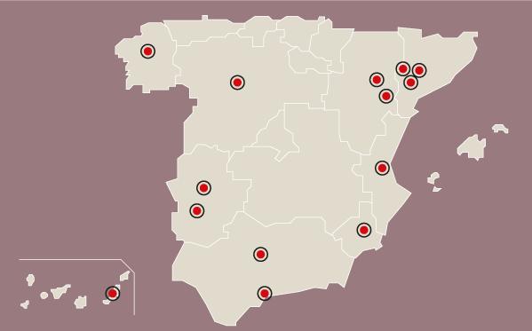 Mapa de los rebrotes del coronavirus en España