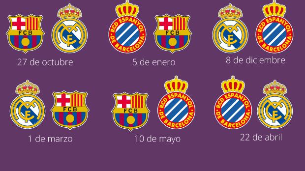 Calendario de la Liga: el Barça-Madrid será el 27 de octubre; Madrid-Barça, el 1 de marzo