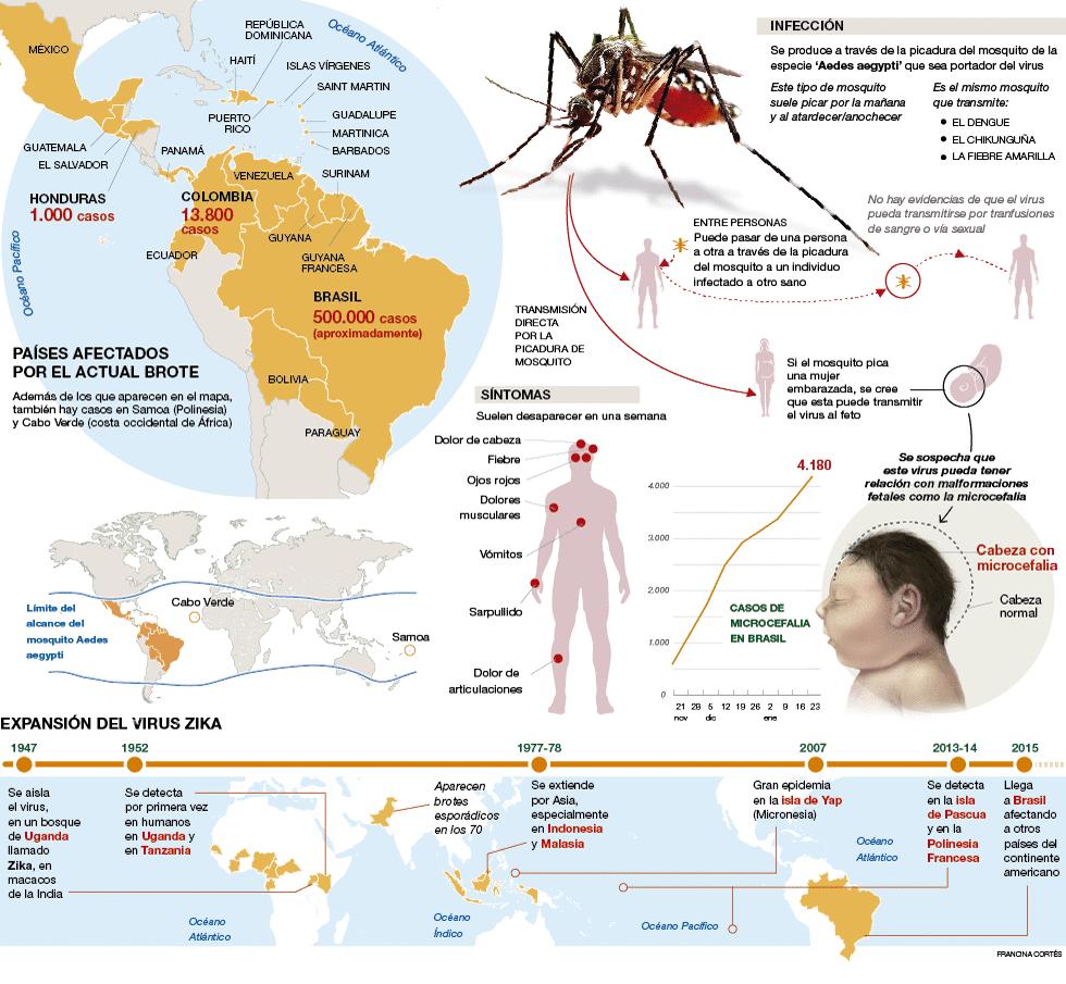 La expansion del virus Zika en el mundo y sus consecuencias