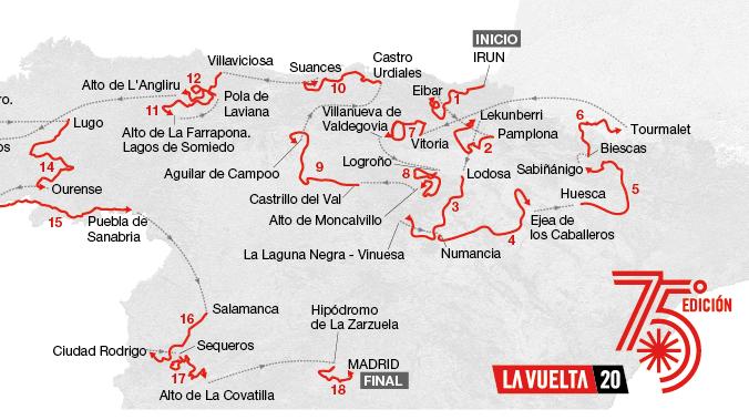 Recorrido de la Vuelta a España 2020: Perfiles de todas las etapas